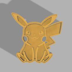 Descargar diseños 3D Cortador de galletas Pikachu, emmanuelgnanasekar