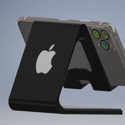 apple mobile stand.JPG Download STL file Mobile Holder Apple version • Template to 3D print, emmanuelgnanasekar