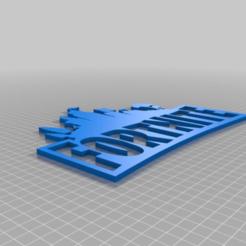 Télécharger plan imprimante 3D gatuit signe fortnite avec dos séparé, markzilla25