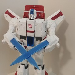 20200815_130734.jpg Download STL file War for Cybertron Siege Jetfire Armblade Upgrade • Object to 3D print, 1uknowleast