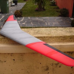 Download free 3D printer designs RC Flying Wing - The Klingberg Wing, aerofred