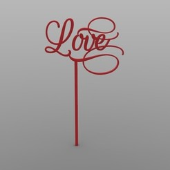 Download free STL file Topper Love • 3D printing template, sebastiandavidsalas
