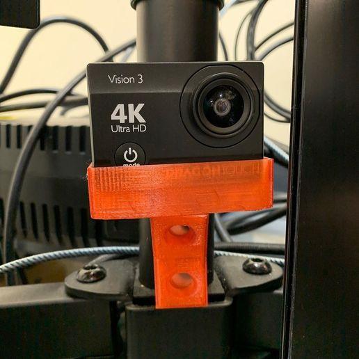 Télécharger fichier STL gratuit Monture magnétique pour caméra d'action • Modèle pour impression 3D, SnoLabs3D
