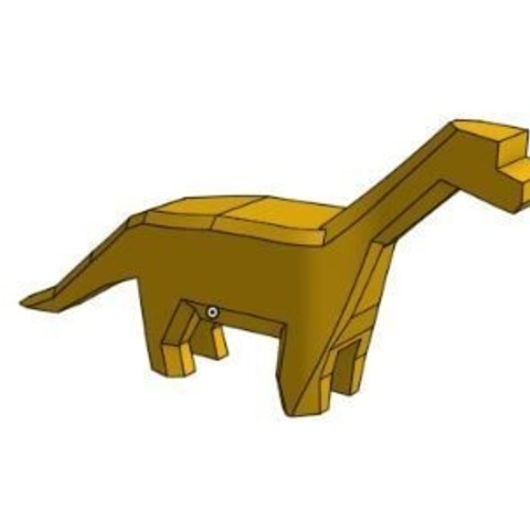 Dinosaure.JPG Download STL file Dino • Template to 3D print, Ant-103