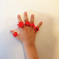 Download STL rings for children, Ant-103
