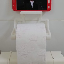 Download free STL file Toilet Roll & Mobile Phone Holder • Model to 3D print, 3dmakerjojo