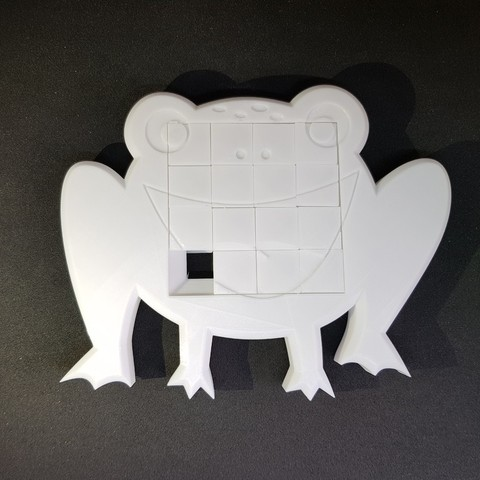 Download free 3D printer files 4x4 Frog sliding puzzle, mingyew