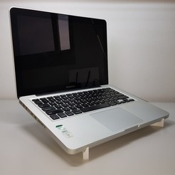 Fichier STL gratuit porte-ordinateur portable macbook 15'''., mingyew
