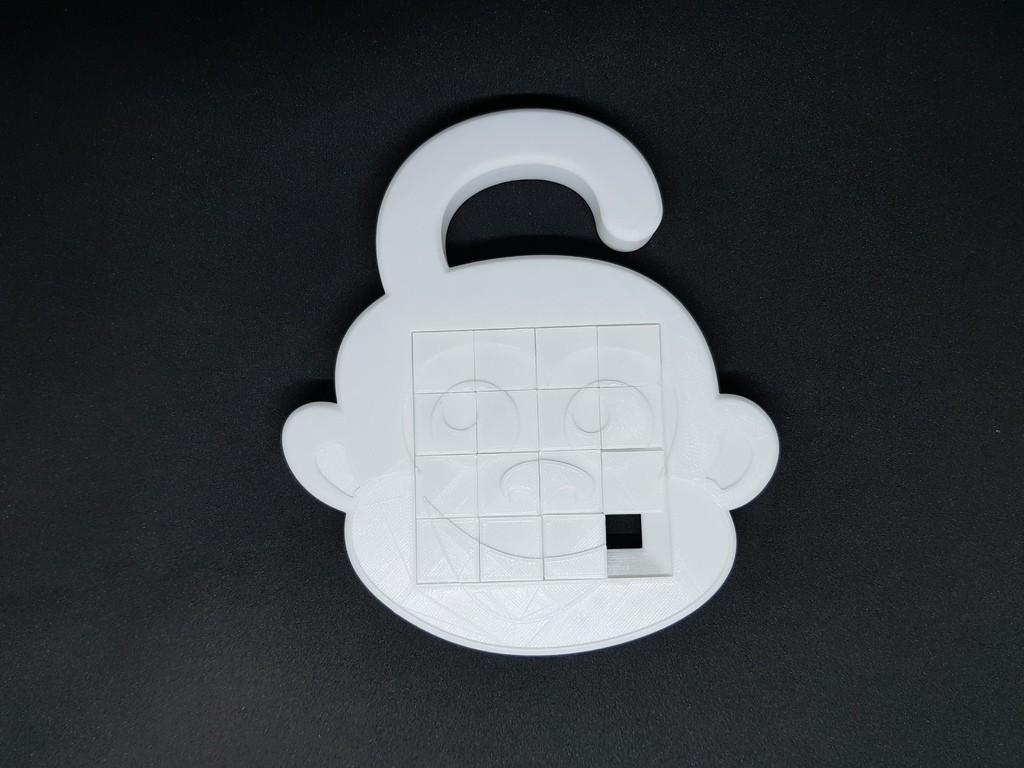 20aed79e1fee710cf77a95da7d6b6f5b_display_large.jpg Télécharger fichier STL gratuit Puzzle coulissant 4x4 Monkey Monkey • Design pour imprimante 3D, mingyew