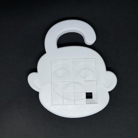 Free 3D printer designs 4x4 Monkey sliding puzzle, mingyew
