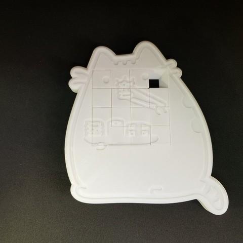 Free 3D printer files 4x4 Cat sliding puzzle, mingyew