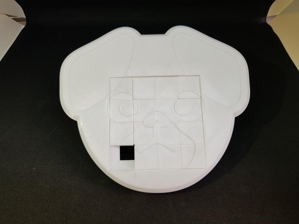 2b0cb6de07e67a6c0c7deba1944cc698_display_large.jpg Télécharger fichier STL gratuit 4x4 Puzzle coulissant pour chien • Objet pour impression 3D, mingyew