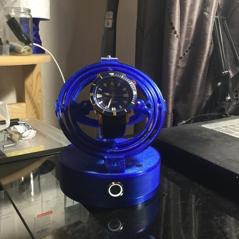 Download 3D printer model Gyro Winder / Watch Winder / Watch Winding Watch, Rommaster