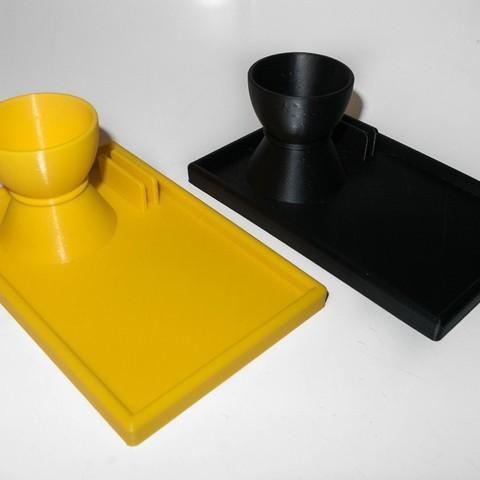 IMG_0828_display_large.jpg Download free STL file Egg cup with spoon holder (version 2) • 3D printer model, Jakwit