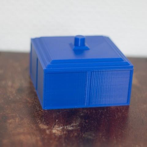 Free 3D printer designs Tardis inspired coaster box, Jakwit