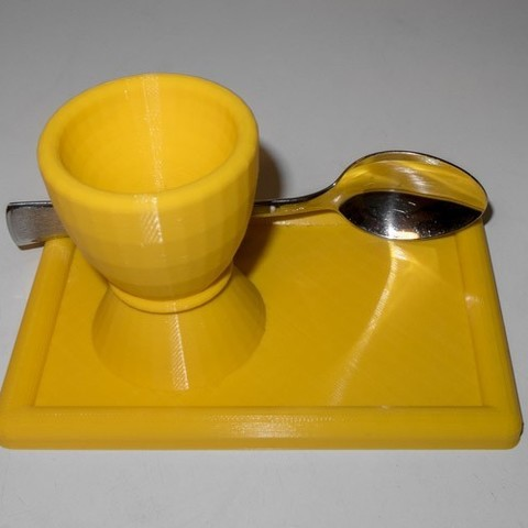 IMG_0749-2_display_large.jpg Download free STL file Egg cup with plate and spoonholder • 3D print design, Jakwit