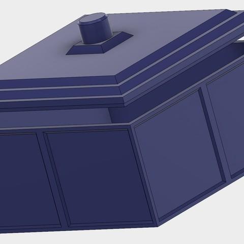 4cc5544304eaf066cd9d601e9695b521_display_large.jpg Download free STL file Tardis inspired coaster box • 3D print object, Jakwit