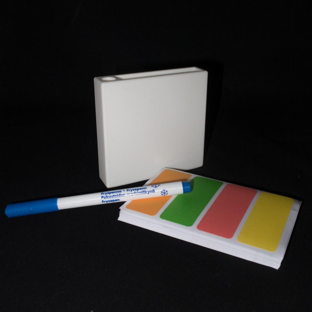 Labels_penn_og_3D_printet_boks_7_display_large.jpg Download free STL file Label container • 3D print object, Jakwit