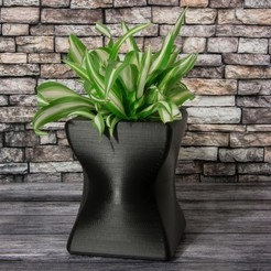Download free 3D printer model Small curved planter, Jakwit