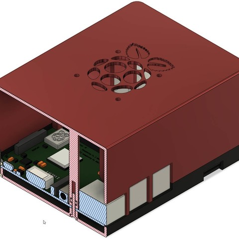 11f5315d0fdebb3df4e4554339df02f2_display_large.jpg Download free STL file Raspberry Pi 3 Model B+ (double case with fan) • 3D printable template, Jakwit