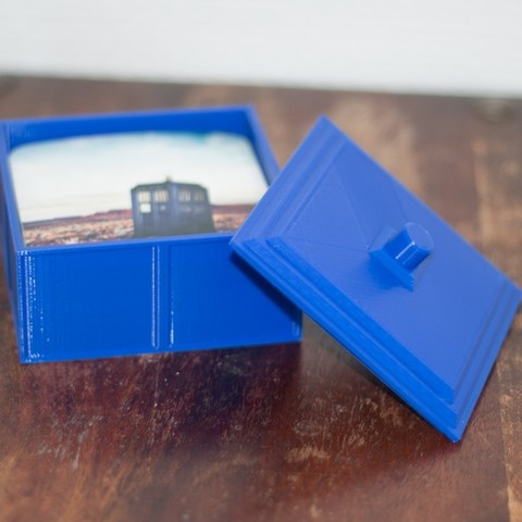 d87cb6edce3d2a0ce7d95473894a3252_display_large.jpg Download free STL file Tardis inspired coaster box • 3D print object, Jakwit