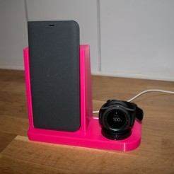 Free 3D printer model Charging station - With Ikea wireless charger, Jakwit