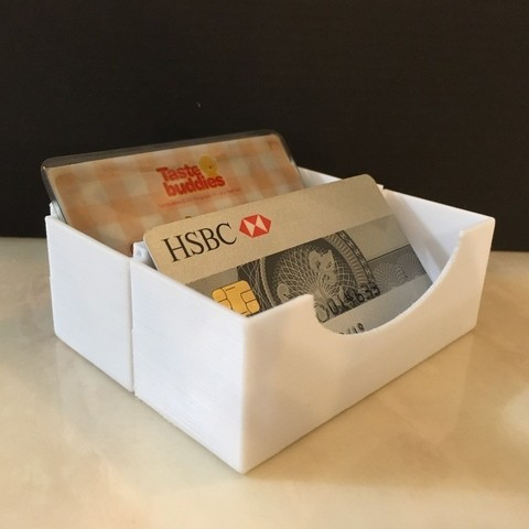 Imprimir en 3D gratis Caja porta tarjetas (apilable), Aravon