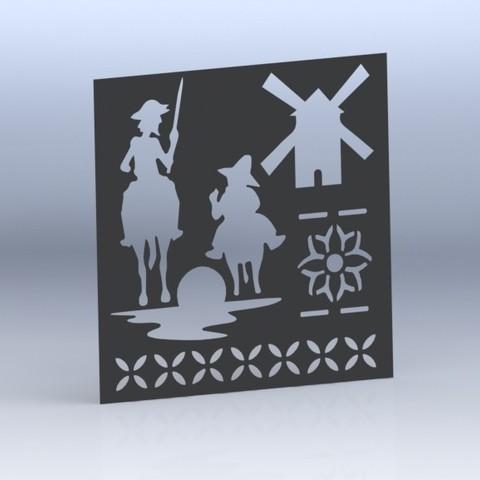 3d printer designs Insole Don Quijote (Stencil), juanreina2