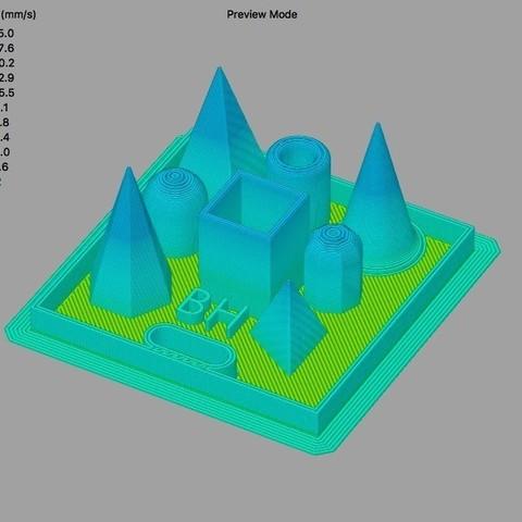 9344ca638a92d8fce3b8c07e1be4c799_display_large.jpg Download free STL file Quick 3D Printer Fine Detail Test • 3D print design, sneaks