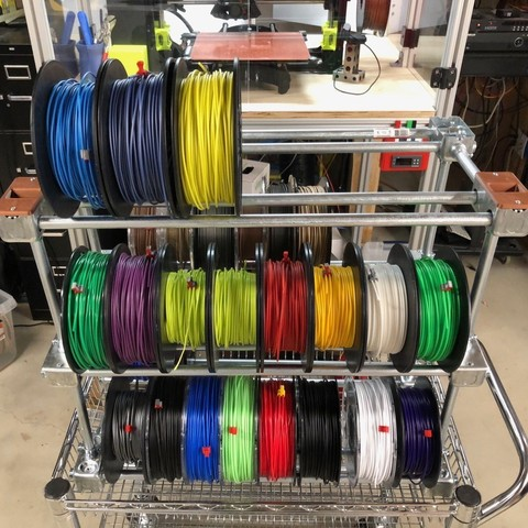 Cheap & Easy to Build Steel Filament Storage Rack - Store 80 Spools or more!