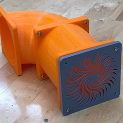 Download free 3D printer templates Duct and Cover for 80mm Fan - Used to Vent TAZ 6, sneaks