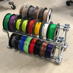 Fichier STL gratuit Cheap & Easy to Build Steel Filament Storage Rack - Stockez 80 Spools ou plus !, sneaks