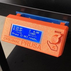 Free 3D model Prusa MK3 Enclosure Bracket for LCD Controller, sneaks