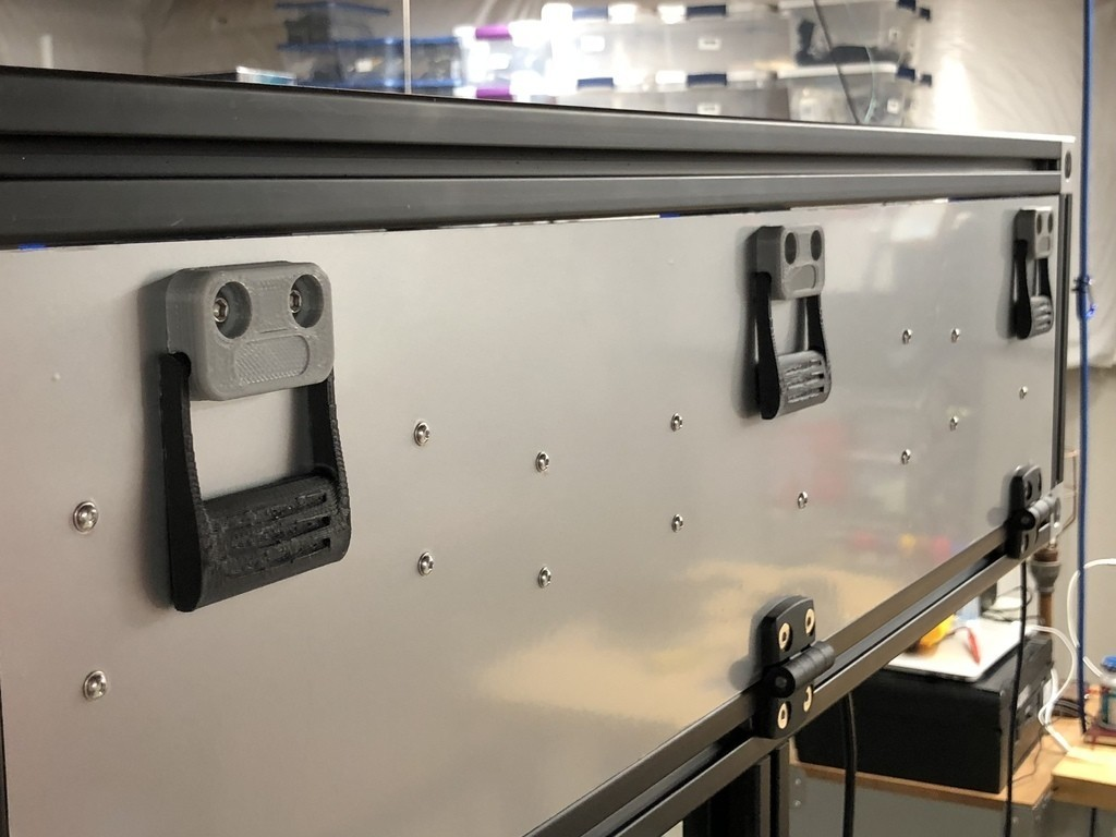 ac09be2b4d04b49e8c78afffe5a1edc2_display_large.jpg Download free STL file Industrial Cabinet Door Handle // Drawer Pull • 3D printable template, sneaks