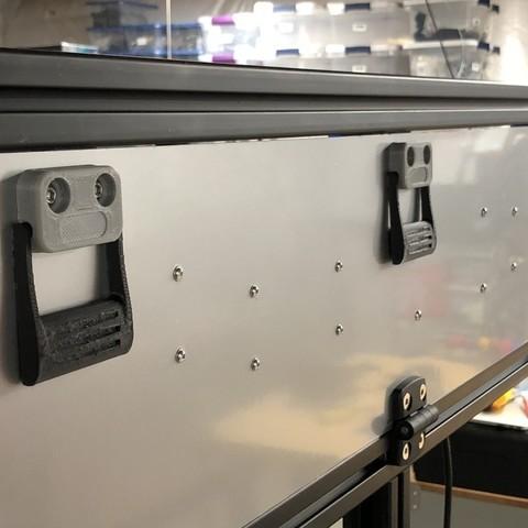 Télécharger fichier imprimante 3D gratuit Poignée de porte d'armoire industrielle // Tiroir Tirette de tiroir, sneaks