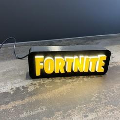 Imprimir en 3D gratis Lámpara con logo de FORTNITE, LowRob
