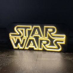 Download free 3D printing templates STAR WARS Logo Lamp, LowRob