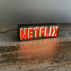 Download free STL file A tribute to NETFLIX • 3D printable template, LowRob