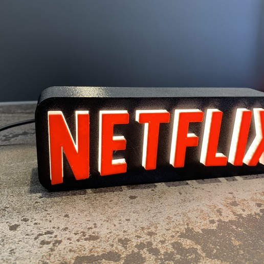 IMG_6164.jpeg Download free STL file A tribute to NETFLIX • 3D printable template, LowRob