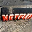 Download free 3D printing designs A tribute to NETFLIX, LowRob