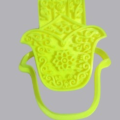 Download 3D model Hamsa Hand, Cookie Cutter, Cookies Cutter, Aroma Base, Candle Holder, crcreaciones3d