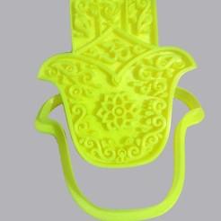 Descargar archivo 3D Mano Hamsa, Cookie Cutter, Cortador de Galletitas, base para sahumerios, porta velas, crcreaciones3d