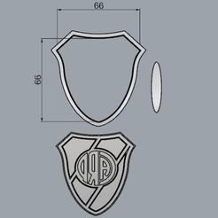 EscudoRiver66mm.jpg Télécharger fichier STL River Shield, coupeur de biscuits • Objet à imprimer en 3D, crcreaciones3d