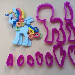 3D printer files Pony, Unicorn, Fondant Cutter and Other Edible Pastes, Cold Porcelain and Ceramics, crcreaciones3d