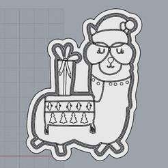 LlamaRegalo.jpg Télécharger fichier STL Llama Navideña, Un Noël différent. • Design pour imprimante 3D, crcreaciones3d