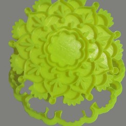 Download STL files Mandala, Cookie Cutter, cookie cutter, base for incense burners, candle holder, crcreaciones3d