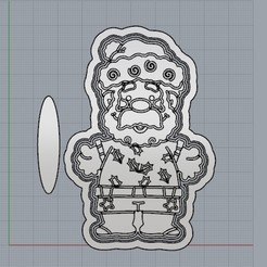 PapaNoelPlayero.jpg Télécharger fichier STL Père Noël, un Noël différent. • Plan à imprimer en 3D, crcreaciones3d