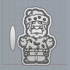 PapaNoelPlayero.jpg Download STL file Santa Claus, a different Christmas. • 3D print object, crcreaciones3d