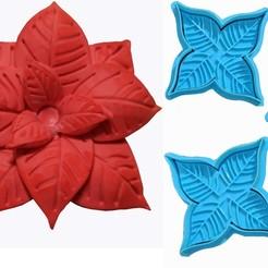 EstrellaFederal3P.jpg Télécharger fichier STL Fleur de Noël, Étoile fédérale • Plan pour imprimante 3D, crcreaciones3d