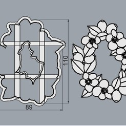 Download 3D printing templates Rosca Navideña, A different Christmas., crcreaciones3d